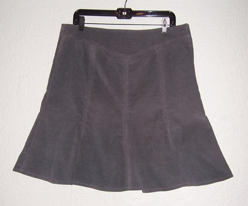 Grey Cord Skirt
