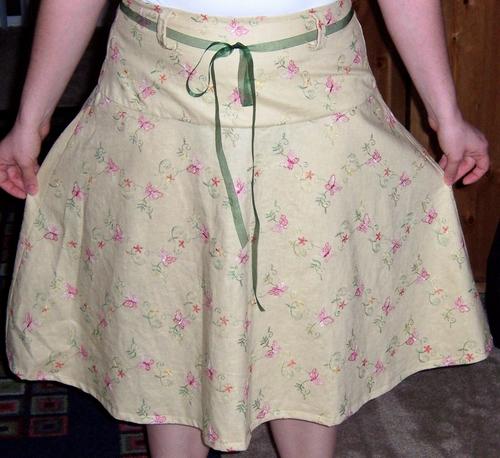Linen Butterfly Skirt