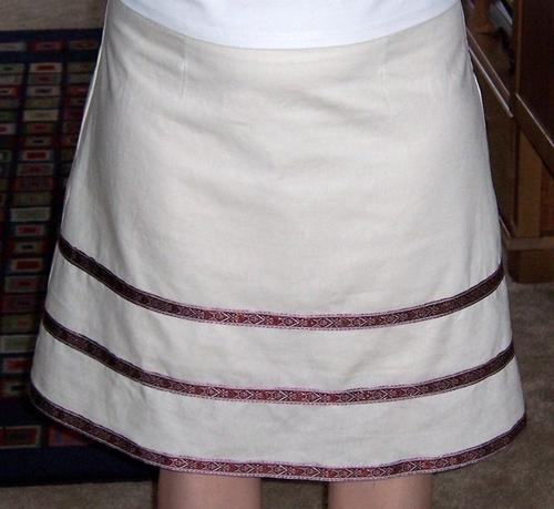 Linen Ribbon Skirt