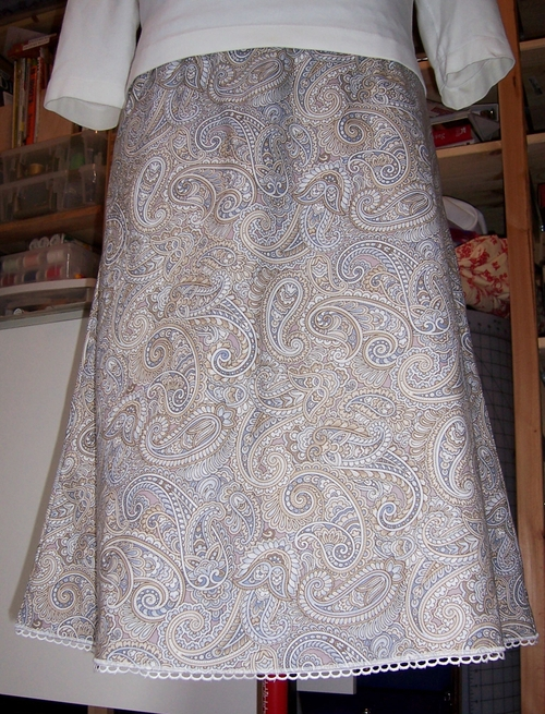 Paisley Lace Edged Skirt
